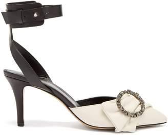 Isabel Marant Pavona crystal-embellished buckle pumps