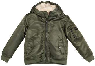 Finger In The Nose Hooded Nylon & Faux Fur Jacket