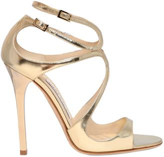 115mm Lance Mirror Leather Sandals $895 thestylecure.com