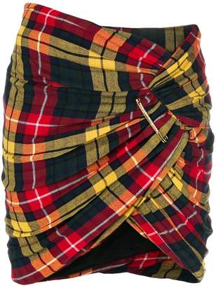 Alexandre Vauthier plaid twist mini skirt