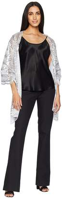 Betsey Johnson Tulle Wrap with Sequin Scallop Pattern Women's Clothing