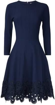 Lela Rose Guipure Lace Hem Dress