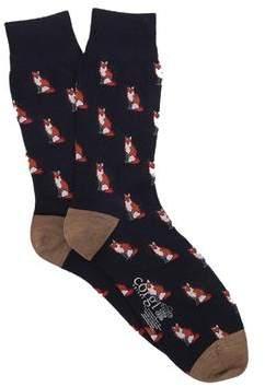 Corgi Lightweight Wool Fox Sock in Navy
