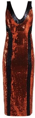 Galvan Hero Sequinned Dress - Womens - Bronze