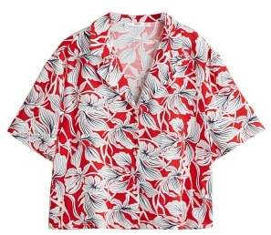 MANGO Flowers printed shirt