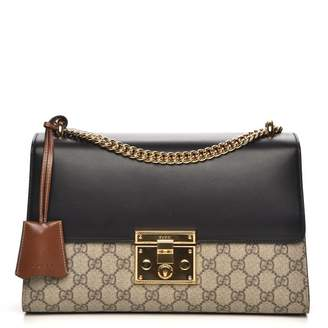 c9508478 Gucci Padlock Shoulder GG Supreme Medium Beige/Black