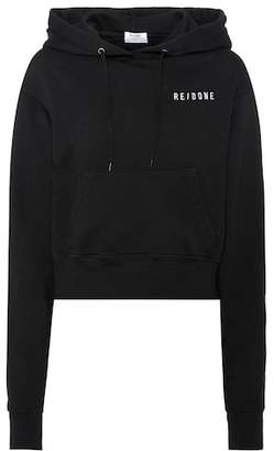 RE/DONE Hard Crop cotton hoodie