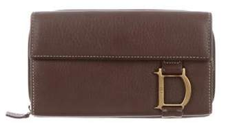 Christian Dior Leather Wallet brown Leather Wallet