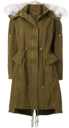 Alexander McQueen fox fur trim hooded jacket