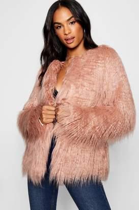 boohoo Tall Mongolian Faux Fur Coat