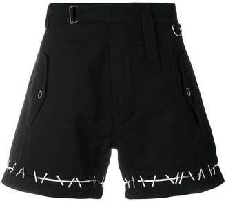 Kokon To Zai Pin embroidered belt shorts