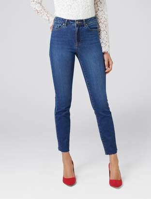 Forever New Phoebe Straight Leg Jean - Mayfair Blue - 4