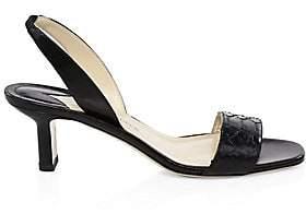 Paul Andrew Women's Python Leather Slingback Sandals
