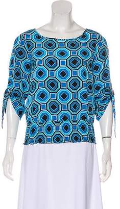 MICHAEL Michael Kors Printed Ruched Blouse