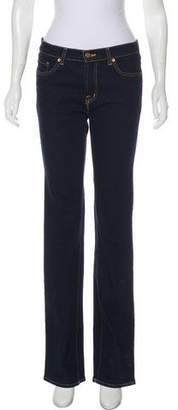 J Brand Mid-Rise Flare Jeans