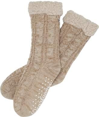 Dearfoams Marled Cable Knit Blizzard Socks