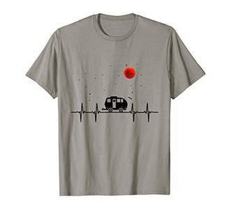Camping Heart Beat Shirt Gift For Men Women T-Shirt