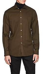 Ralph Lauren Purple Label Men's Cotton Twill Shirt - Olive