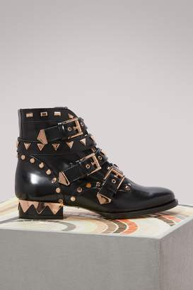 Sophia Webster Riko biker ankle boots