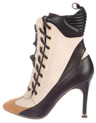 Louis Vuitton Leather Lace-Up Ankle Boots