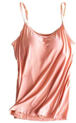 44003967056b9 at Amazon Canada · FOURSTEEDS Womens Tank Top Padded Built in Bra O-Neck  Sleeveless Stretch Casual Camisole US