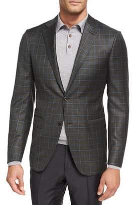 Ermenegildo Zegna Check Wool Two-Button Sport Coat $1,995 thestylecure.com