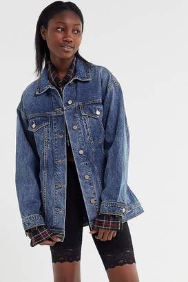 Urban Outfitters Mokoro Denim Belted Safari Jacket