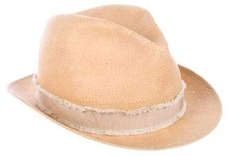 Rag & Bone Grosgrain-Trimmed Straw Hat