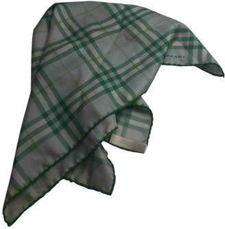 Burberry Green Silk Scarves