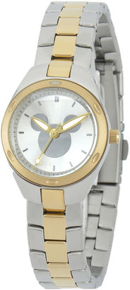 DISNEY Disney Mickey Mouse Womens Two-Tone Stainless Steel Watch $99.99 thestylecure.com
