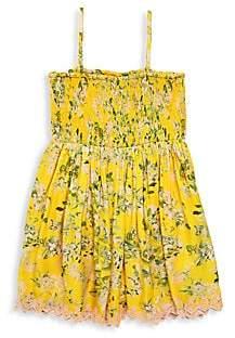 HEMANT AND NANDITA Little Girl's & Girl's Floral Shirred Dress