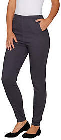 Denim & Co. Petite Color Pull-on Stretch DenimLeggings