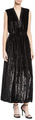ADAM by Adam Lippes Sleeveless Striped A-Line Cocktail Dress