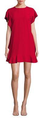 RED Valentino Flutter Trim Solid Dress $595 thestylecure.com