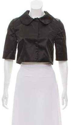 Dolce & Gabbana Satin Cropped Jacket