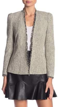 Rebecca Taylor Multi-Tweed Fringe Jacket