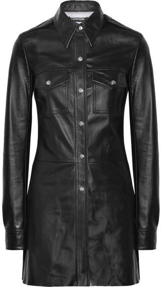 CALVIN KLEIN 205W39NYC - Leather Shirt - Black