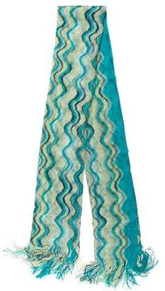 Missoni Knit Fringe Scarf