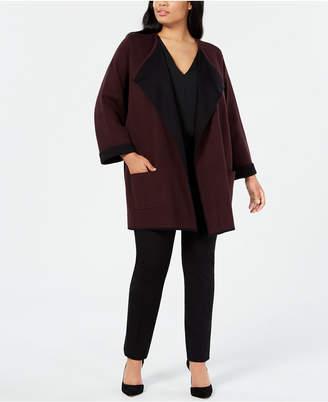 Alfani Plus Size Drape-Front Cardigan