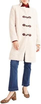 J.Crew Faux Fur Toggle Coat