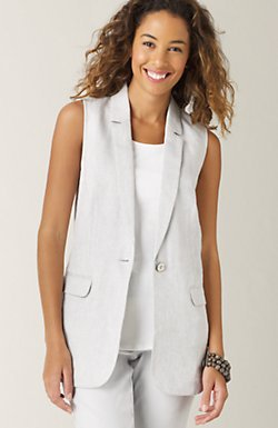 Shimmer linen vest
