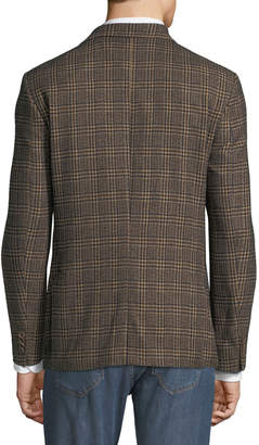 Alberto Morello Men's Cotton/Wool-Blend Plaid Blazer Jacket