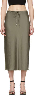 Alexander Wang Khaki Wash and Go Light Skirt