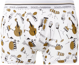 Dolce & Gabbana Underwear instruments print boxers $79.16 thestylecure.com