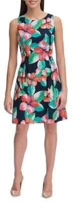Tommy Hilfiger Wild Hibiscus Eyelet A-Line Dress