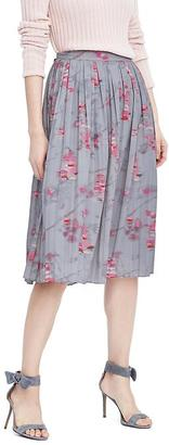 Ikat Pleated Midi Skirt $118 thestylecure.com