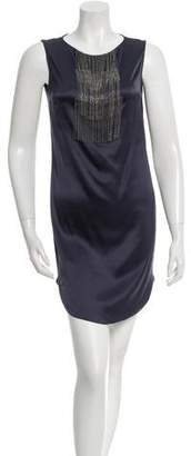 Brunello Cucinelli Jewel Embellished Silk Dress