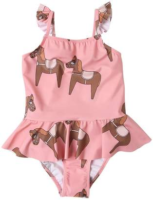 Mini Rodini Horse Print Lycra One Piece Swimsuit