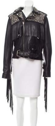 Rodarte Embellished Leather Jacket