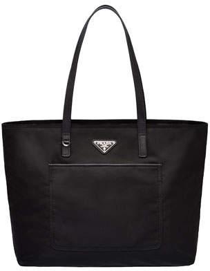 ddc68f8c9 Prada Vela Nylon Shoulder Tote Bag with Front Pocket